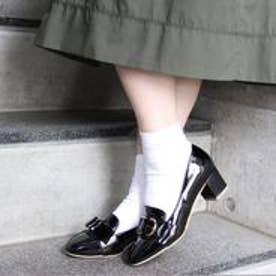 フィン Fin 【低反発スポンジ入り】ローファーパンプス (ブラックエナメル)