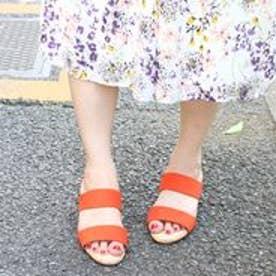 フィン Fin 【低反発スポンジ入り】ダブルベルトミュールサンダル (オレンジ)