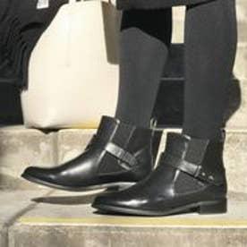 フィン Fin 【低反発スポンジ入り】ベルトサイドゴアショートブーツ (ブラック)