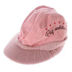 サンカンシオン 3can4on コーディロイニット帽 (ピンク)