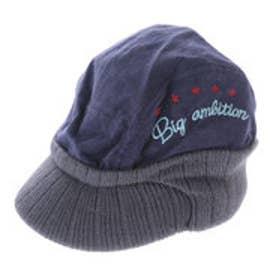 サンカンシオン 3can4on コーディロイニット帽 (パープル)