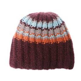 サンカンシオン 3can4on マルチカラーニット帽 (パープル)