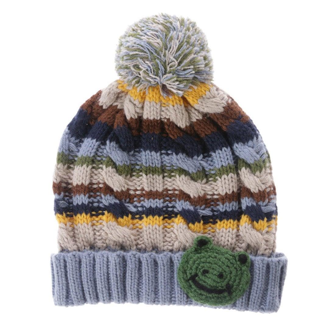 ef2f271cfd46f サンカンシオン 3can4on かえるニット帽 (マルチカラー) -アウトレット通販 ロコレット (LOCOLET)