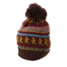 サンカンシオン 3can4on ニット帽 (ブラウン)