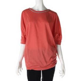 サンカンシオン 3can4on ドルマンTシャツ (コーラルオレンジ)
