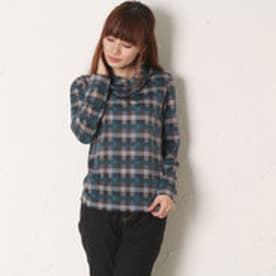 サンカンシオン 3can4on タートルネックシャツ (ブルー)