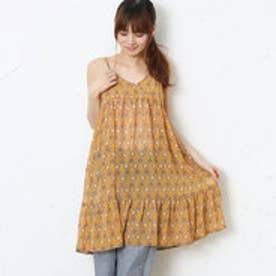 サンカンシオン 3can4on 花柄キャミソールワンピース (オレンジ)