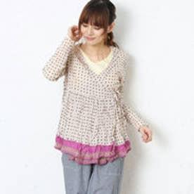 サンカンシオン 3can4on フラワープリントシャツ (マルチカラー)