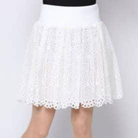 アドーア ADORE オプティカルメッシュレーススカート (ホワイト)