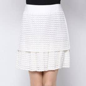 アドーア ADORE スクエアレーススカート (ホワイト)