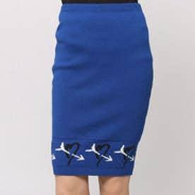 アクアガール aquagirl AIMO RICHLY ハート柄ニットスカート (ブルー)