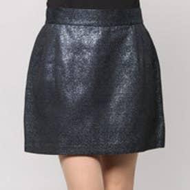 アクアガール aquagirl Pen&Hand ラメジャガードユーロップスカート (ブラック)