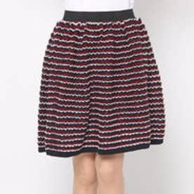 アクアガール aquagirl CROLLA ボーダーニットスカート (ネイビー)