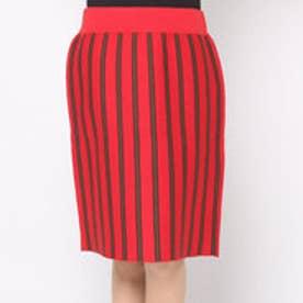 アクアガール aquagirl CROLLA ボーダー台形スカート (レッド)