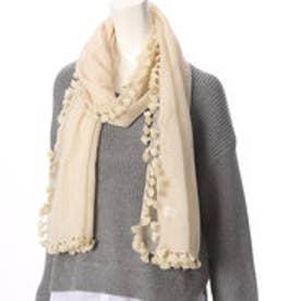 クチュール ブローチ Couture brooch フリンジ付きストール (ベージュ)