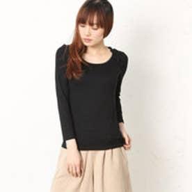 クチュール ブローチ Couture brooch バックレース長袖Tシャツ (ブラック)