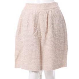 クチュール ブローチ Couture brooch ツイード風タイトスカート (ベージュ)