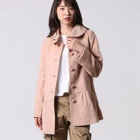 クチュール ブローチ Couture brooch 裾フレアーコート (ピンクベージュ)