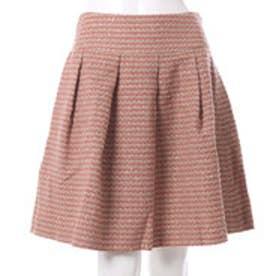 クチュール ブローチ Couture brooch ボーダーツイードスカート (オレンジ)