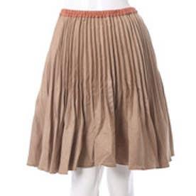 クチュール ブローチ Couture brooch ウール生地風プリーツスカート (ベージュ)