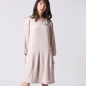 クチュール ブローチ Couture brooch パフ袖長袖ワンピース (ベージュ)