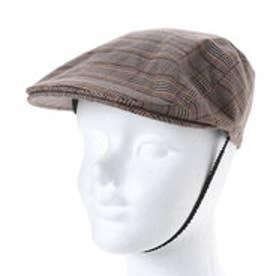 セレク コレクション CELEC COLLECTION チェック柄ハンチング帽 (ブラウン)