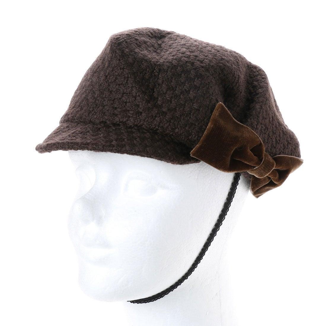 【SALE 80%OFF】セレク コレクション CELEC COLLECTION りぼんキャスケット帽子 (ブラウン)