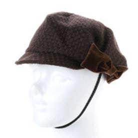 セレク コレクション CELEC COLLECTION りぼんキャスケット帽子 (ブラウン)