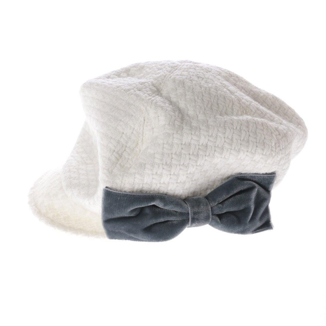 【SALE 80%OFF】セレク コレクション CELEC COLLECTION りぼんキャスケット帽子 (オフホワイト)