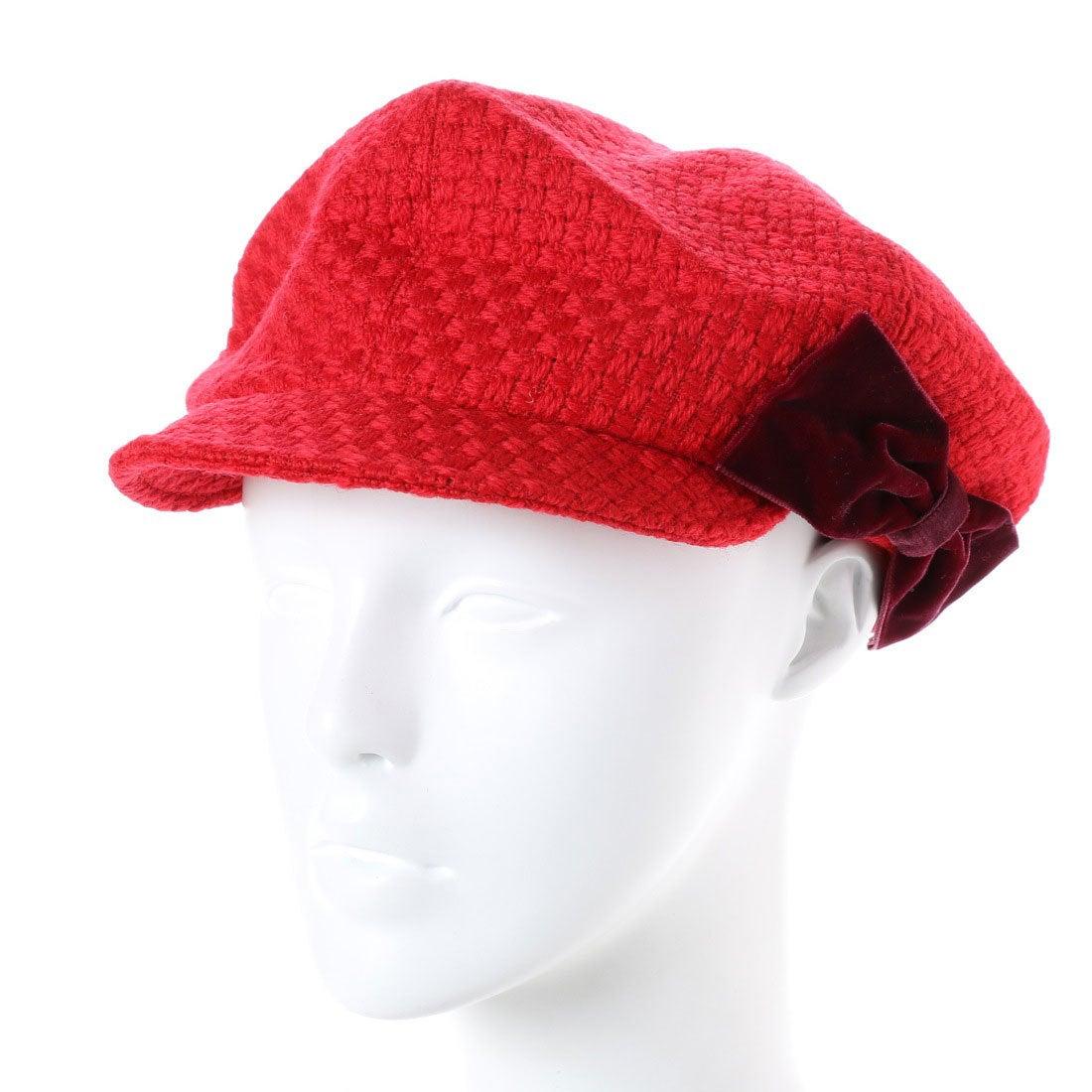 【SALE 70%OFF】セレク コレクション CELEC COLLECTION りぼんキャスケット帽子 (レッド)