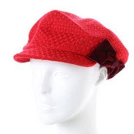 セレク コレクション CELEC COLLECTION りぼんキャスケット帽子 (レッド)