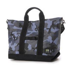ダブル アール ハンプ Double R Hampu 日本製8号帆布 2WAYトート (Black Urban Camouflage×Black)