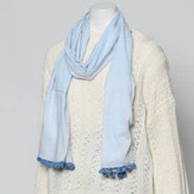 ドレスキップ DRESKIP モチーフ付きスカーフ (ブルー)