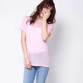 ドレステリア DRESSTERIOR ラウンドネックTシャツ (ピンク)
