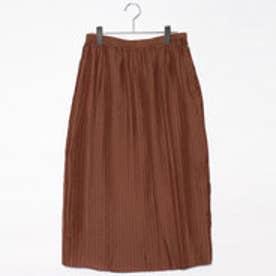 ドレステリア DRESSTERIOR スパンボイルプリーツスカート (ブラウン)