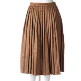 エル ELLE プリーツスカート (キャメル)