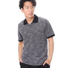ファイン FINE スラブ素材ポロシャツ (ブラック)