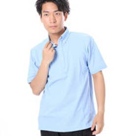 ファイン FINE 鹿の子生地ポロシャツ (サックス)