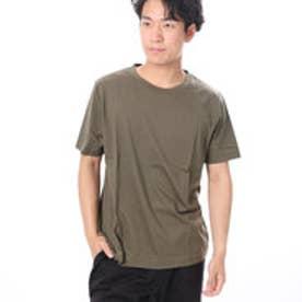 ファイン FINE 半袖無地クルーネックTシャツ (カーキ)