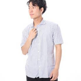 ファイン FINE ストライプワイドカラーシャツ (オフホワイト)