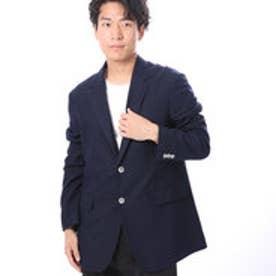 ファイン FINE 鹿の子生地ジャージジャケット (ネイビー)