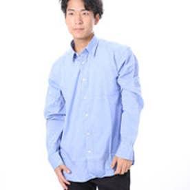 ファイン FINE 無地カラーコットンシャツ (ブルー)