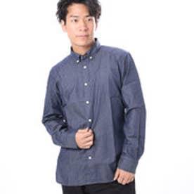 ファイン FINE 無地シャンブレーボタンダウンシャツ (ネイビー)