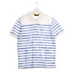 ファイン FINE カモフラグラデーションボーダーポロシャツ (ブルー)