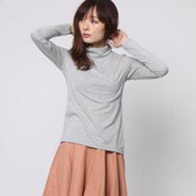 ファイン FINE タートルネックTシャツ (グレー)