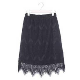 ファイン FINE 総レースタイトスカート (ブラック)