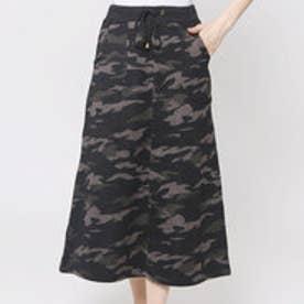 ファイン FINE 迷彩柄アウトポケットスカート (ブラック)