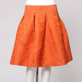 ハッシュアッシュ HusHusH フラワージャガードスカート (オレンジ)