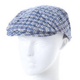 ヒューマンウーマン HUMAN WOMAN outlet GREVI チェック柄ワーク帽子 (ブルー)