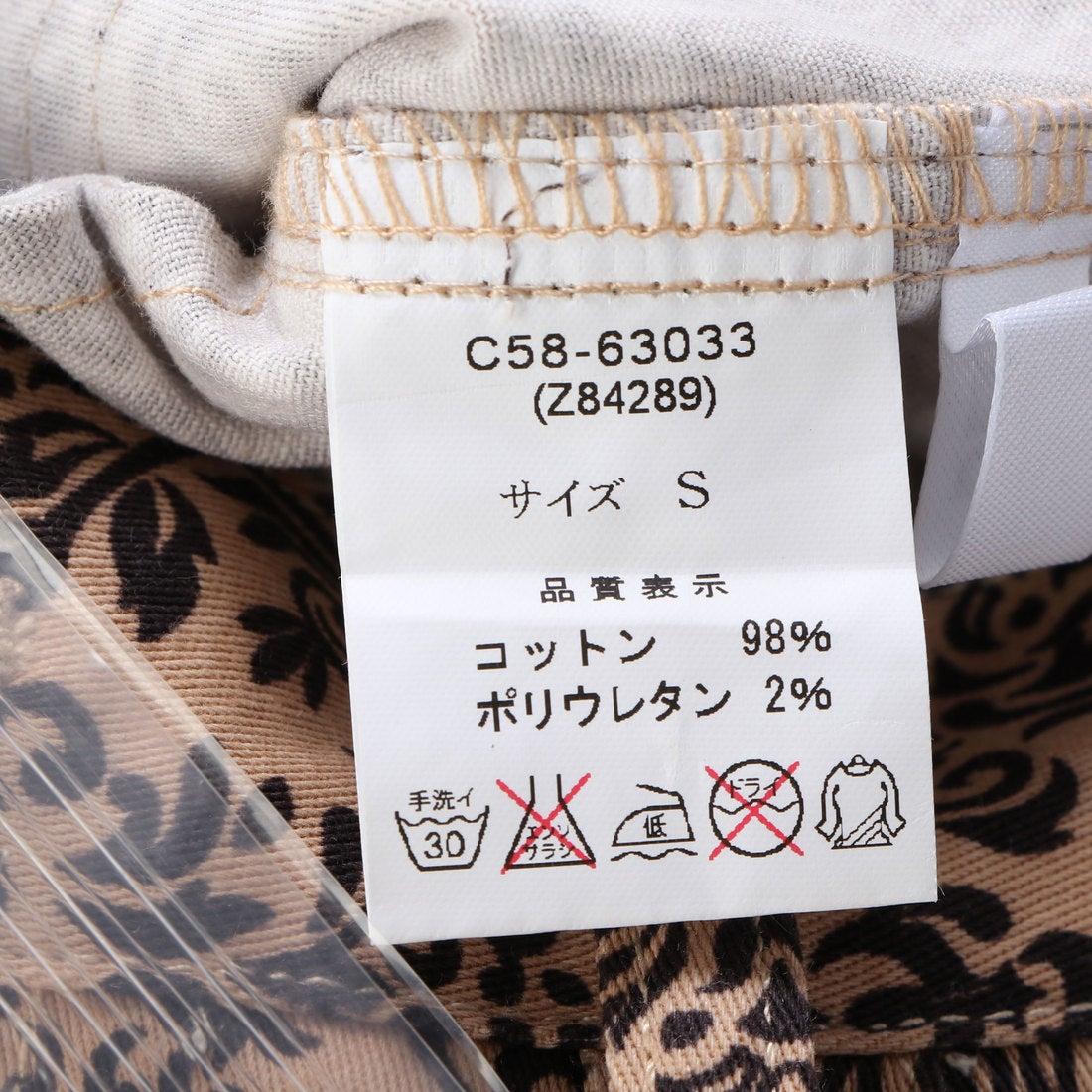 インデックス Index 花柄 壁紙スキニ パンツ ベージュ